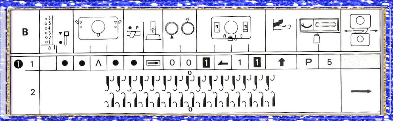Рабочая схема №2 для вязания